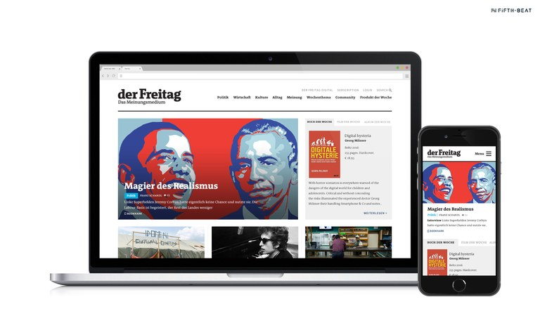 der Freitag – Design and implementation of a cross-medial reading experience