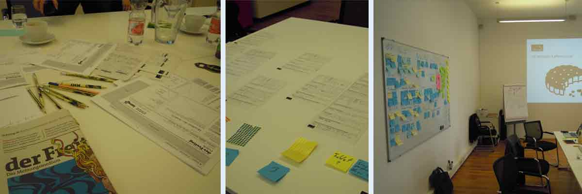 Freitag-Meetings, Workshops und Sprints, UX