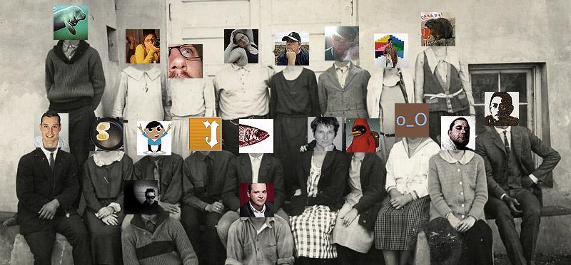 Foto di gruppo con twitter avatar