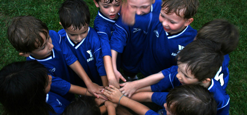 Un team prima della partita